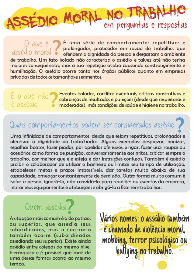 Assédio Moral no Trabalho em perguntas e respostas