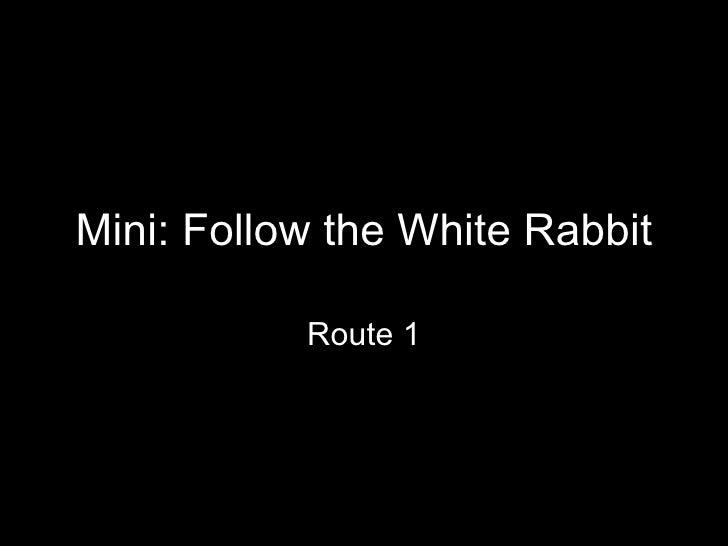 Mini: Follow the White Rabbit