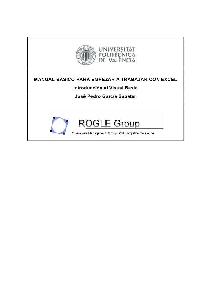Mini Manual De Visual Basic Para Excel