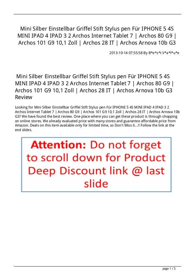 Mini Silber Einstellbar Griffel Stift Stylus pen Für IPHONE 5 4S MINI IPAD 4 IPAD 3 2 Archos Internet Tablet 7 | Archos 80...