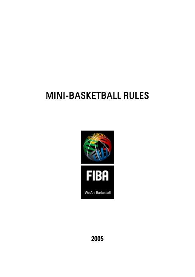Mini basketball rules 2005