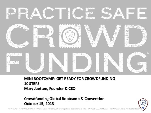 Mini Bootcamp: Get ready for Crowdfunding