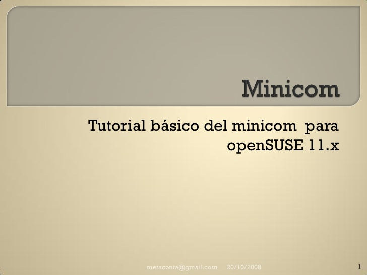 Manual básico Minicom
