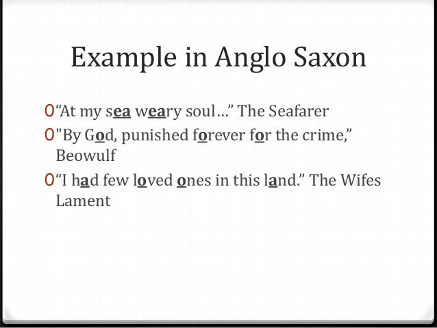 seafarer and the wife's lament essay
