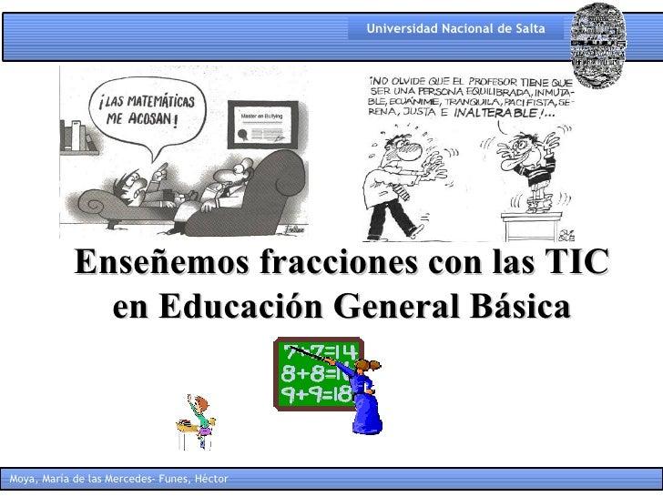 Enseñemos fracciones con las TIC en Educación General Básica