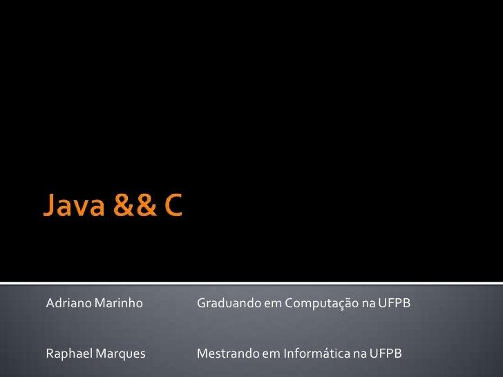 Minicurso Java && Cl