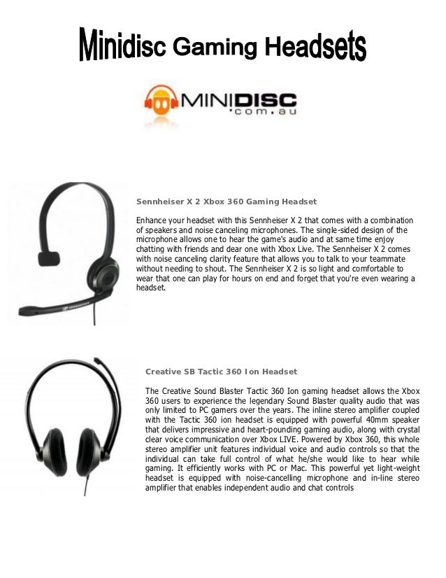 Sennheiser X 2 Xbox 360 Gaming HeadsetEnhance your headset with this Sennheiser X 2 that comes with a combinationof speake...