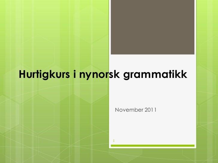 Minigramatikk nynorsk