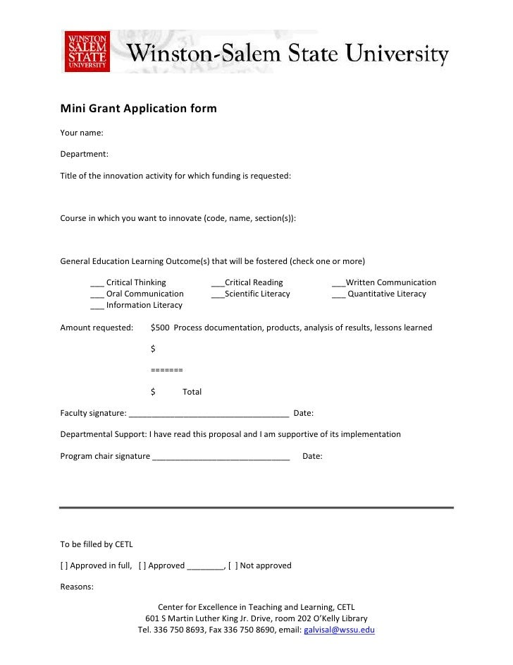 Mini Grant Application form <br />Your name:<br />Department:<br />Title of the innovation activity for which funding is r...