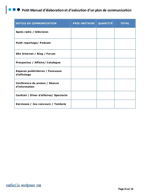 modele planning d u0026 39 integration