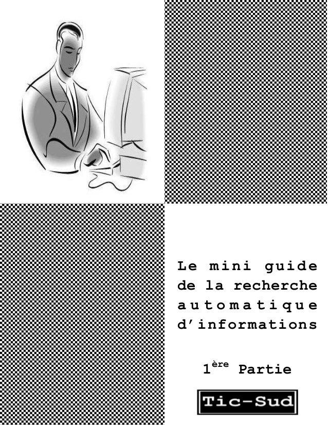 Le mini guide de la recherche automatique d'informations 1ère Partie