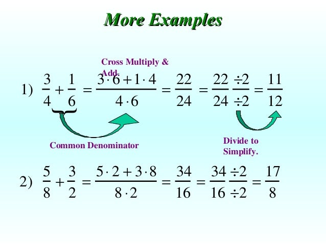 Mini Lesson Adding And Subtracting Fractions