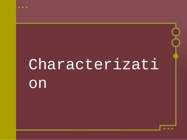 Mini lesson characterization