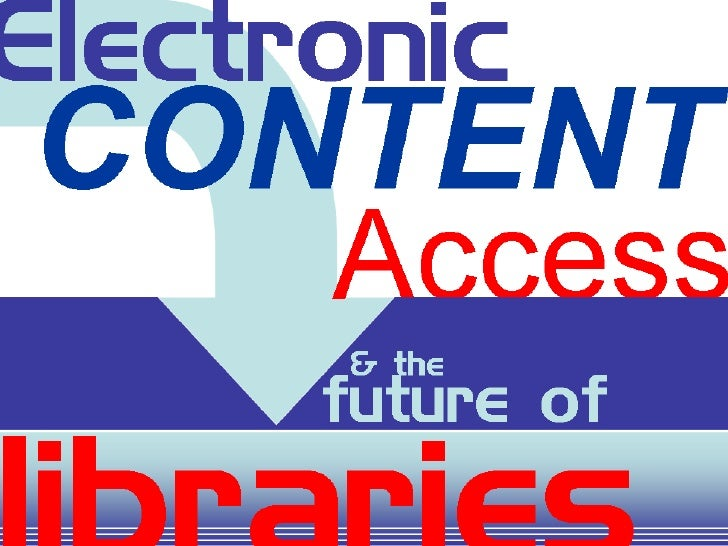 Libraries And Electronic Content Access & Distribution V1 Mini