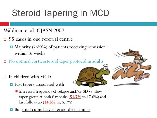 steroid dependent mcd