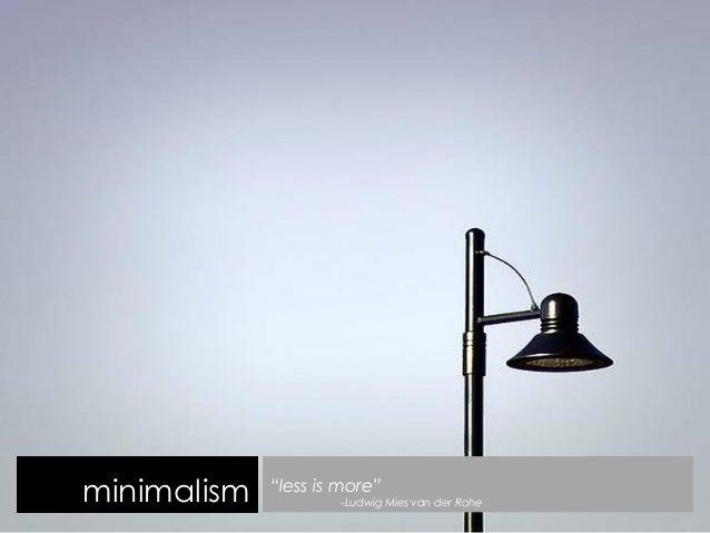 Minimalism study of an art movement for Minimalist design movement