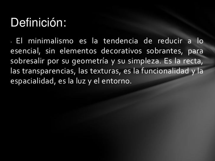minimalismo y deconstructivismo