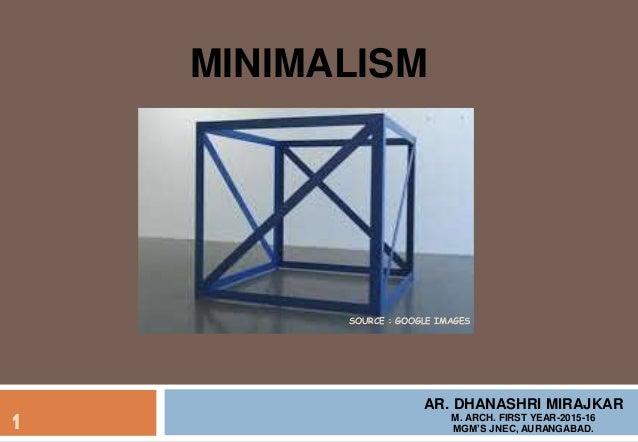 minimalism ppt