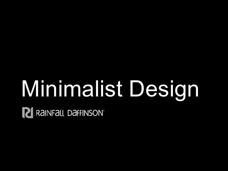 Minimalist design for Minimal art slideshare