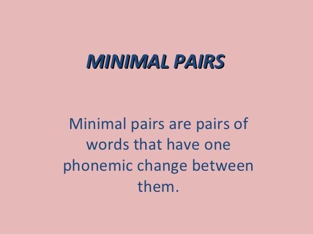 Minimal pairs for Minimal art slideshare