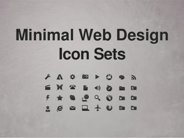 Minimal Web Design Icon Sets