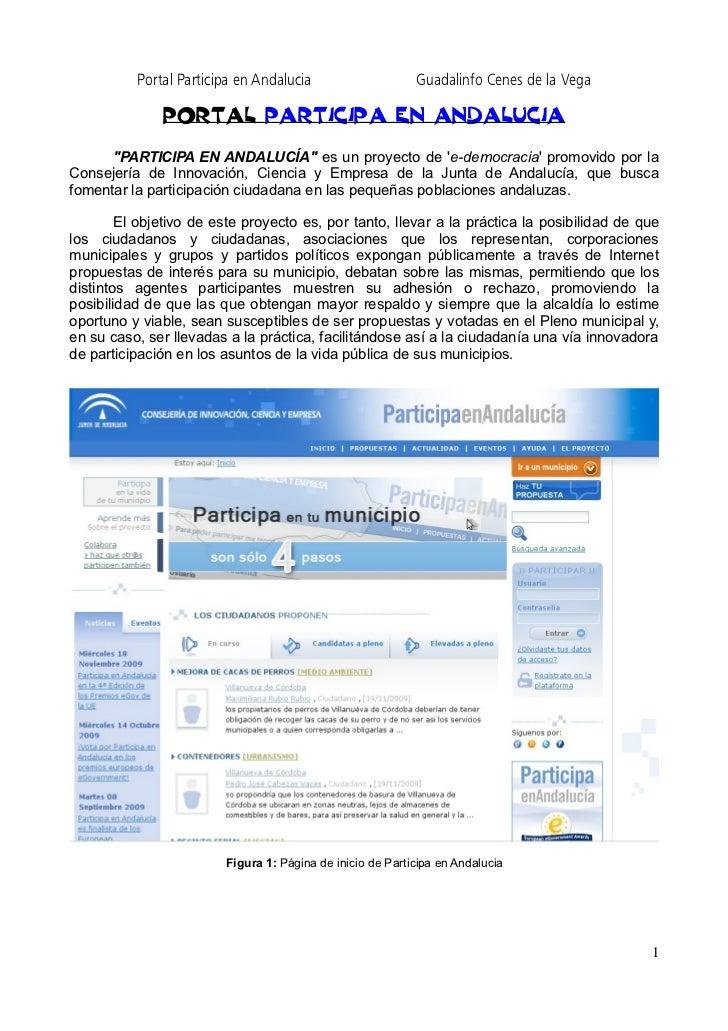 Minimanual sobre el portal Participa en Andalucia