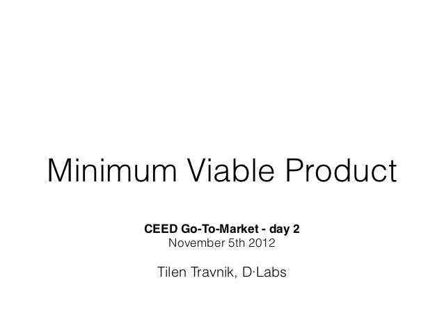 Minimum Viable Product - theory and workshop