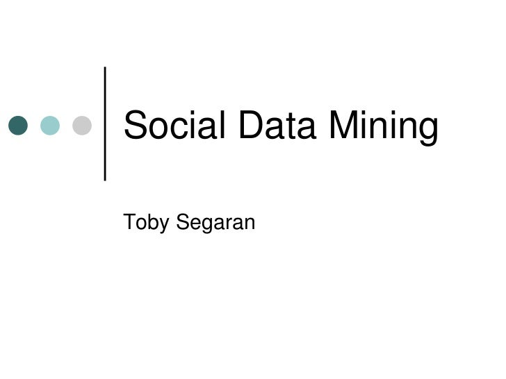 Mining Social Data for Fun and Insight