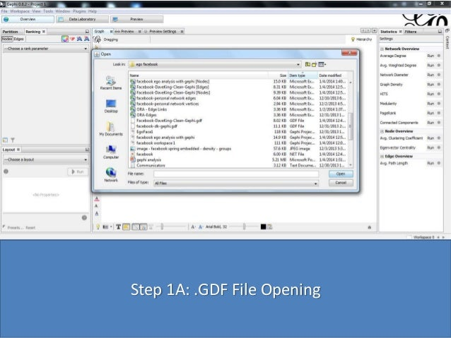 Step 1A: .GDF File Opening