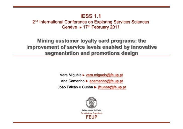 Mining customer loyalty card programs
