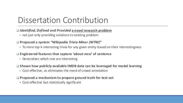 dissertation definition