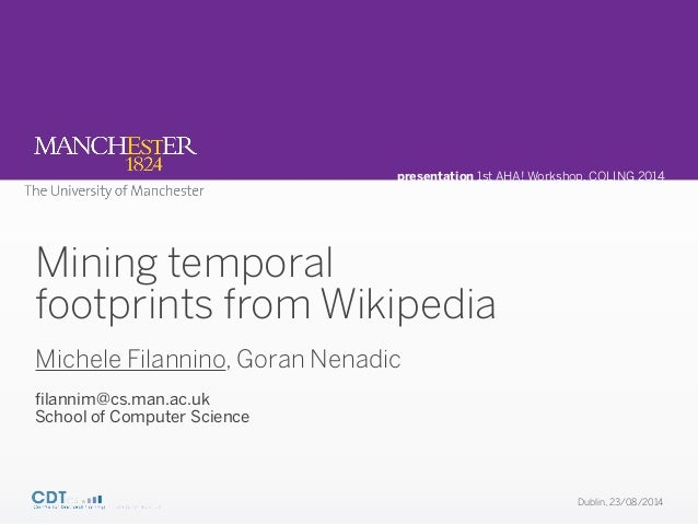 Mining temporal footprints from Wikipedia