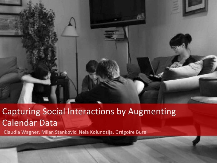 Capturing Social Interactions by Augmenting Calendar Data