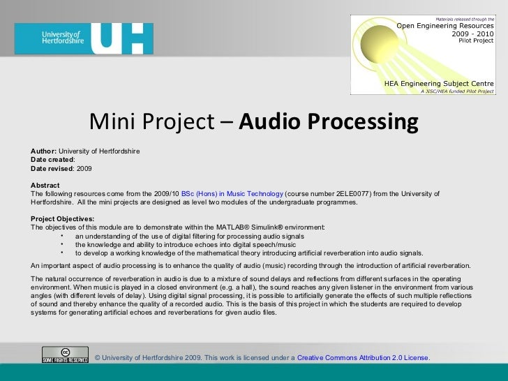 Miniproject audioenhancement-100223094301-phpapp02