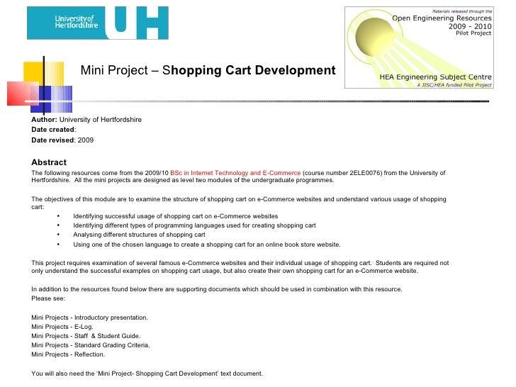 Mini Project- Shopping Cart Development
