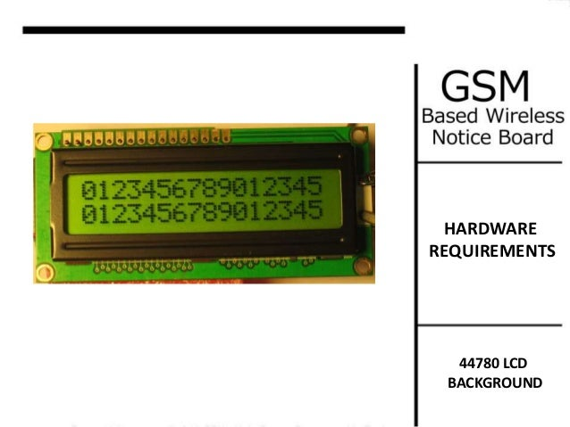 gsm notice board