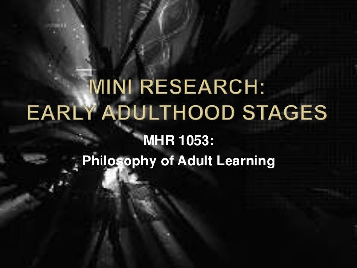 MHR 1053:Philosophy of Adult Learning