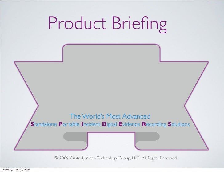 Product Briefing                                             The World's Most Advanced                          Standalone ...