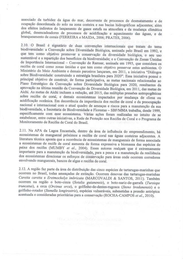associado da turbidez da água do mar,  decorrente de processos de desmatamento e de ocupação desordenada do solo na zona c...