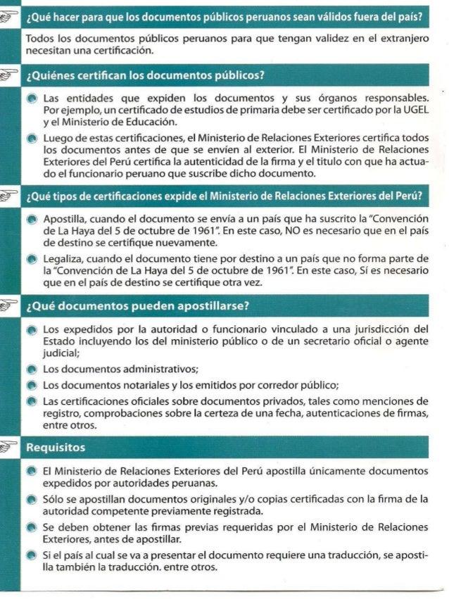 Ministerio de relaciones exteriores del per 2013 for Oposiciones ministerio de exteriores