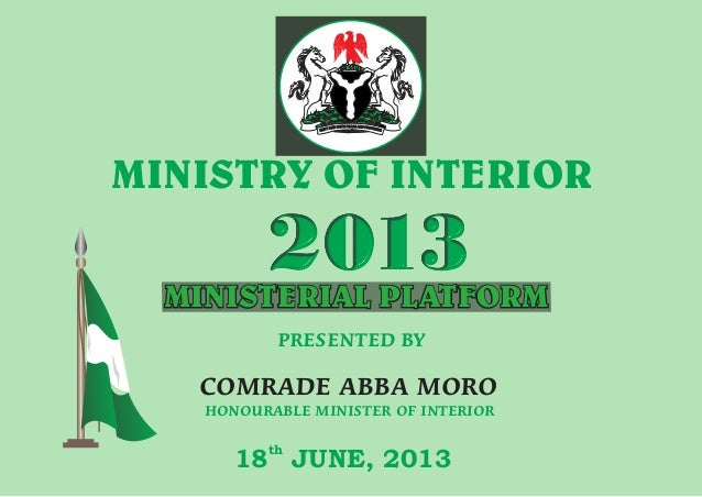 #MP2013 Presentationn by the Minister of Interior
