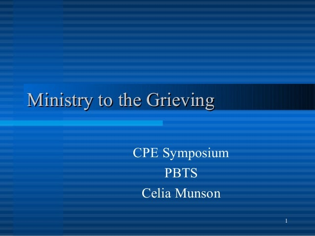 Ministry to the Grieving