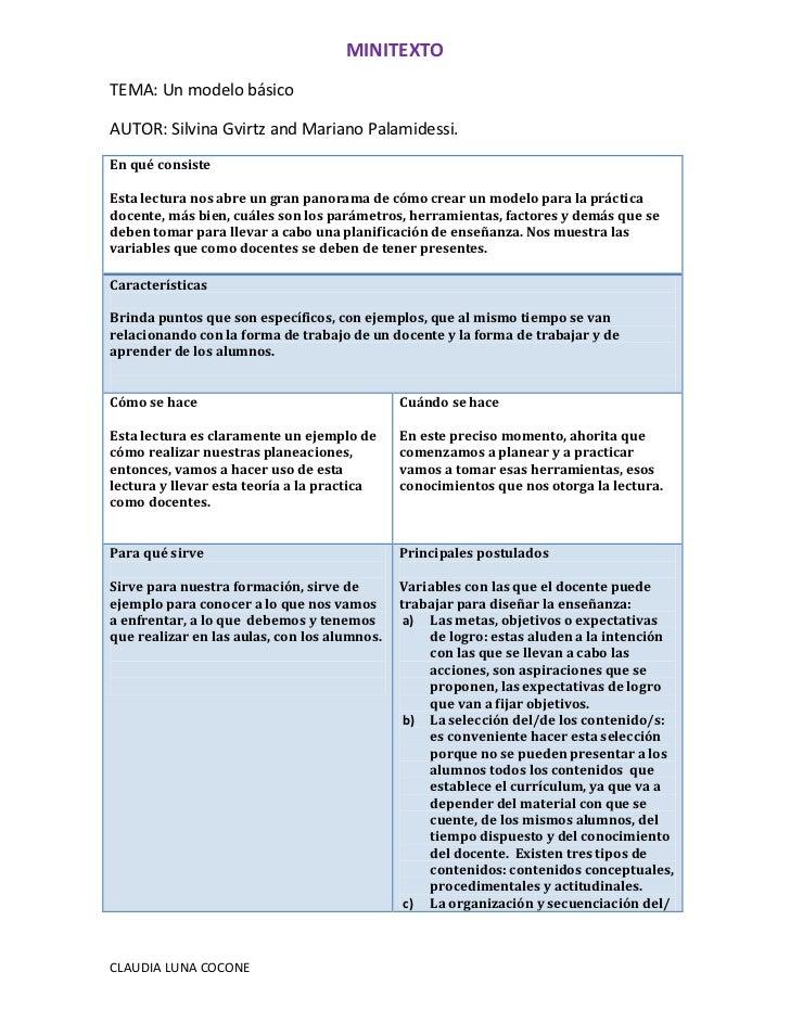 MINITEXTOTEMA: Un modelo básicoAUTOR: Silvina Gvirtz and Mariano Palamidessi.En qué consisteEsta lectura nos abre un gran ...