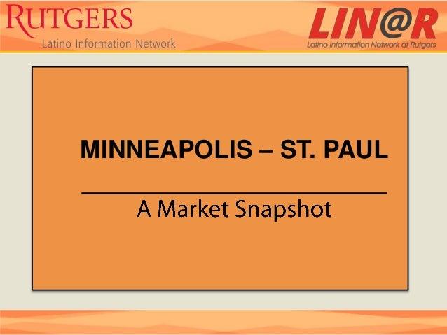 Minneapolis st. paul market snapshot