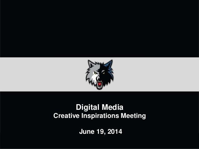 Minnesota Timberwolves - Digital Media Web Design Creative Presentation