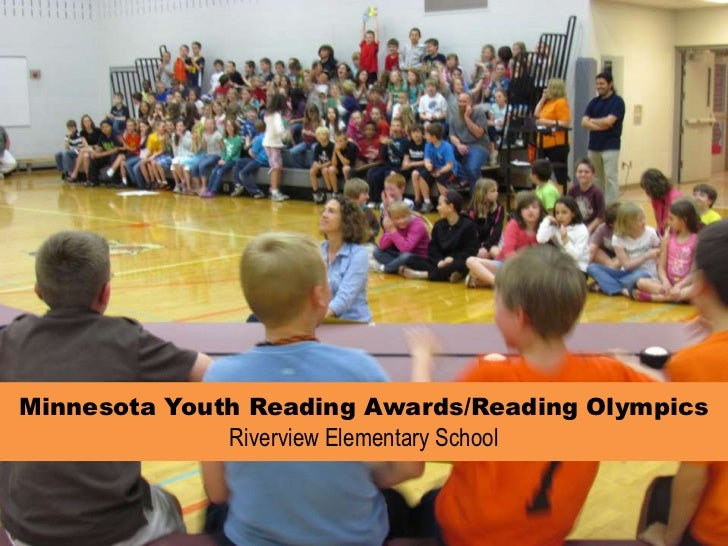 Minnesota Youth Reading Awards/Reading Olympics Riverview Elementary School <br />