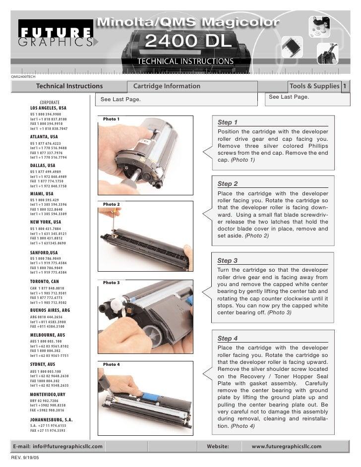 Manual de Recarga Minolta QMS 2400