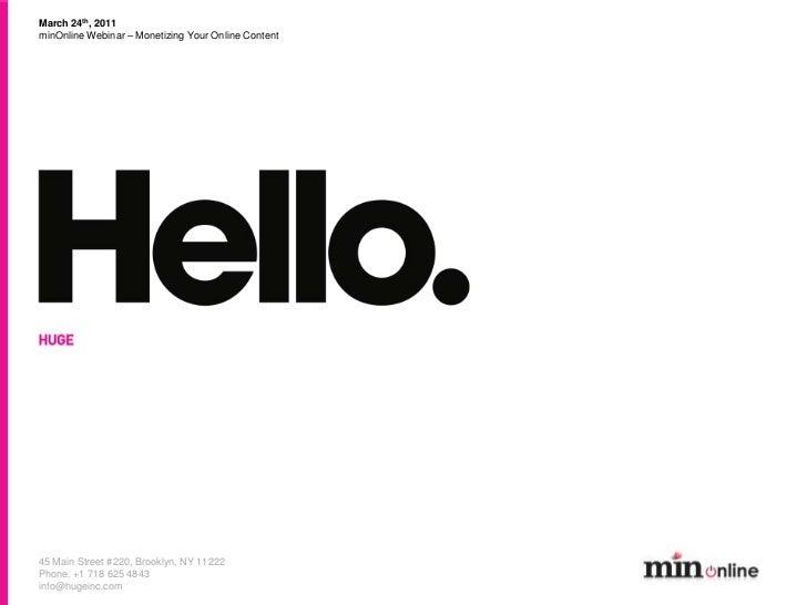 Min online webinar-montizecontent-markohurst-2011