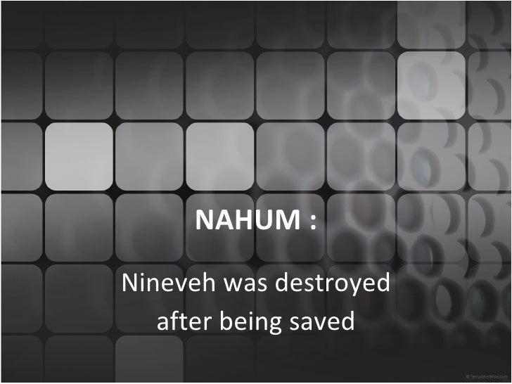 Minor nahum