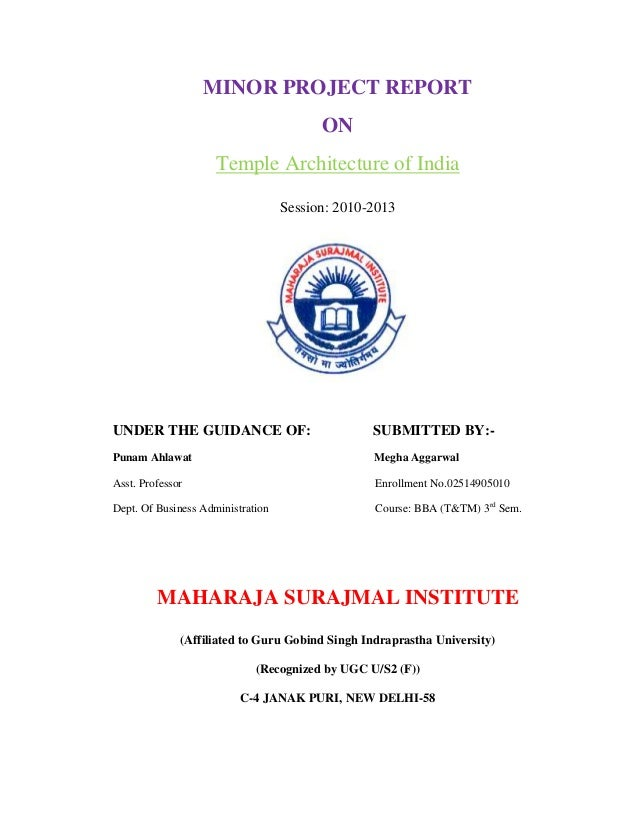 Minor Project Report On Temple Architectur